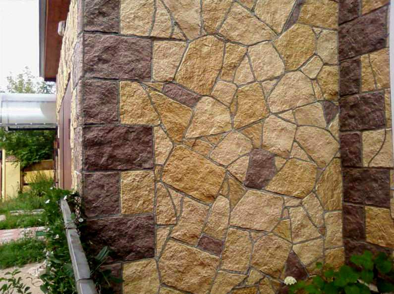 Отделка фасада искусственным камнем своими руками